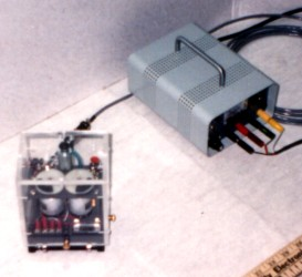 Inertial propulsion engine E-2 front view