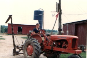 Mowing hay at Uncle Virgil's farm 1967